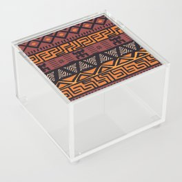 Tribal ethnic geometric pattern 021 Acrylic Box