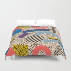 Memphis Inspired Pattern 3 Duvet Cover