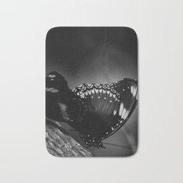 Black Butterfly Bath Mat