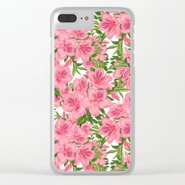 Vintage Azaleas Clear iPhone Case