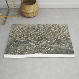 Vintage Pictorial Map of Houston Texas (1873) Rug