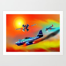 Red Tails Art Print