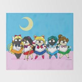 Sailor pugs Throw Blanket