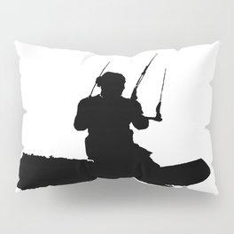 Wakeboarder Kitesurfing Silhouette Pillow Sham