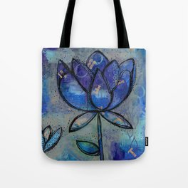 Abstract - Lotus flower - Intuitive Tote Bag