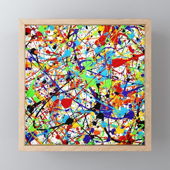 Splat! 1 (Rainbow) Framed Mini Art Print