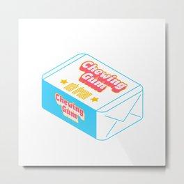 Chewing Gum Metal Print