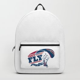 Paramotor Powered Paraglider Cryzy Fly USA American Flag Backpack
