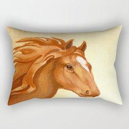 Redhead - Chestnut Hunter Horse Rectangular Pillow