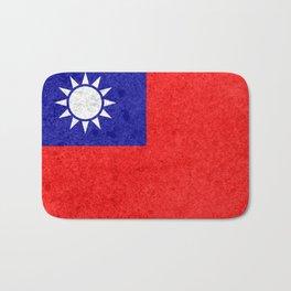 Taiwan flag Bath Mat