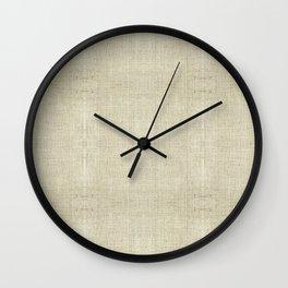 """Nude Burlap Texture"" Wall Clock"