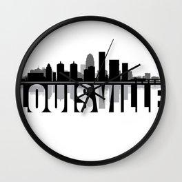 Louisville Silhouette Skyline Wall Clock