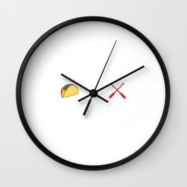 Rowing and Tacos Funny Taco Wall Clock
