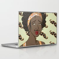 mustache Laptop & iPad Skins featuring Mustache by Chouly-Shop