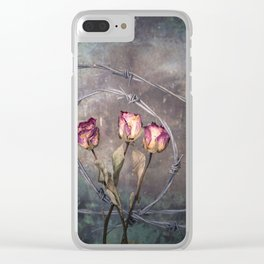 Trapped Roses Clear iPhone Case