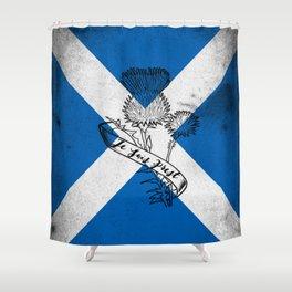 SCOTLAND FLAG JE SUIS PREST Shower Curtain