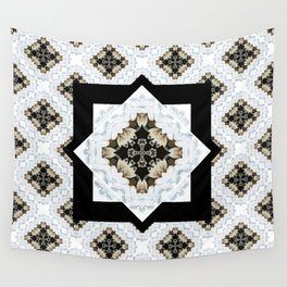 diamond cross pattern with borders Wall Tapestry