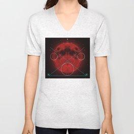 Red Moon Graphish. Unisex V-Neck