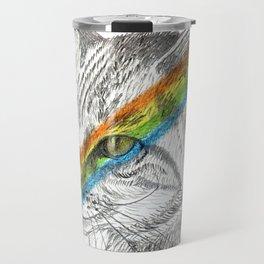 Cat's eye rainbow Travel Mug