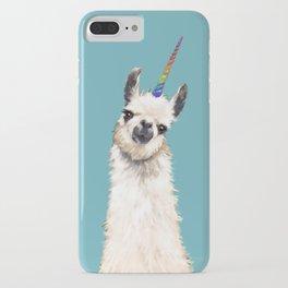 Unicorn Llama Blue iPhone Case