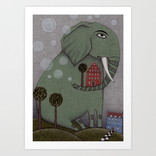 It's an Elephant! Art Print