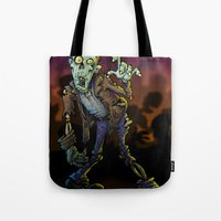 zombie Tote Bags featuring ZOMBIE! by Billy Allison