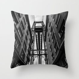 Portugalete suspension bridge Throw Pillow
