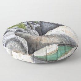 Tree in the Boulders Floor Pillow