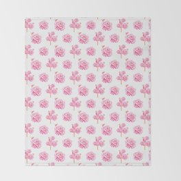 Rose Pop Pattern Throw Blanket