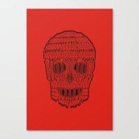 horror Canvas Prints featuring horror by creaziz