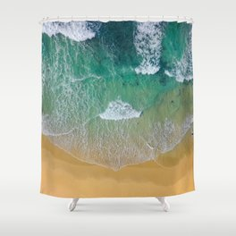 Ocean from the sky Shower Curtain