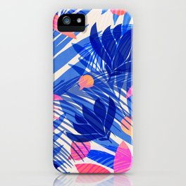 Breezy Tropics / Bright Abstract Floral Print iPhone Case