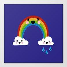 Rainbow Cuteness Canvas Print