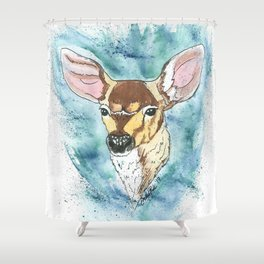 Spring Fawn Shower Curtain