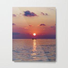 Calm Sunset (Color) Metal Print
