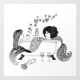 Broad City Mermaid Fan Art Art Print