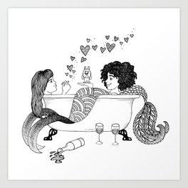 Broad City Mermaid Fan Art Art Print
