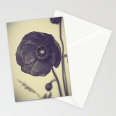 Nature in Black and White -- Poppy -- Botanical Stationery Cards