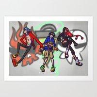 gurren lagann Art Prints featuring gurren lagann - graffiti by gutter