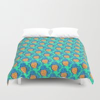 squirtle Duvet Covers featuring Squirtle Squad by pkarnold + The Cult Print Shop