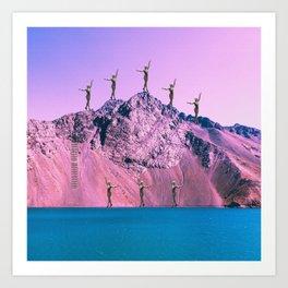 Pink Planet Art Print