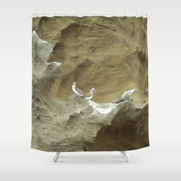 Among the boobies Shower Curtain