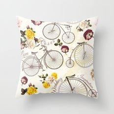 Hello vintage Throw Pillow