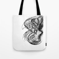 phoenix Tote Bags featuring Phoenix. by sonigque