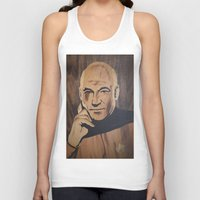 picard Tank Tops featuring Jean-Luc Picard (Patrick Stewart)  by Andulino