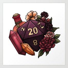 Sorcerer Class D20 - Tabletop Gaming Dice Art Print