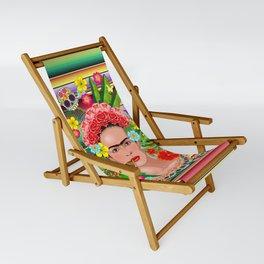 Frida Kahlo Floral Exotic Portrait Sling Chair