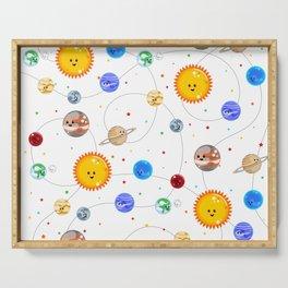 Kawaii Solar System Pattern Serving Tray