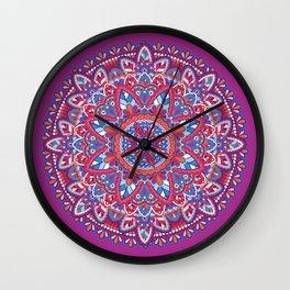 Sunset Mandala Wall Clock