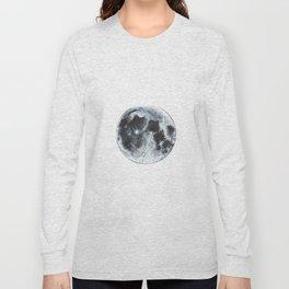 Full Moon Painting Long Sleeve T-shirt